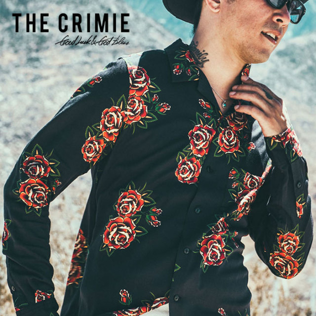 CRIMIE(クライミー) ROSE ALOHA LONG SHIRT 【2019SPRING/SUMMER新作】 【C1K1-SH12】【長袖 アロハシャツ】