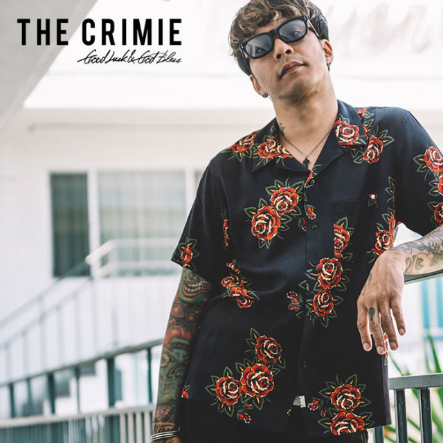 CRIMIE(クライミー) ROSE ALOHA SHORT SHIRT 【2019SPRING/SUMMER新作】 【C1K1-SH13】【アロハシャツ】
