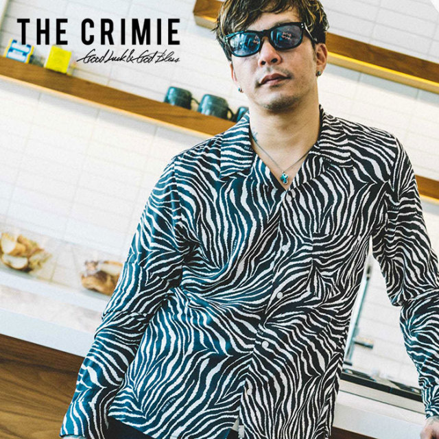 CRIMIE(クライミー) TIGER ALOHA LONG SHIRT 【2019SPRING/SUMMER先行予約】 【キャンセル不可】【C1K1-SH14】【長袖 アロハシャ