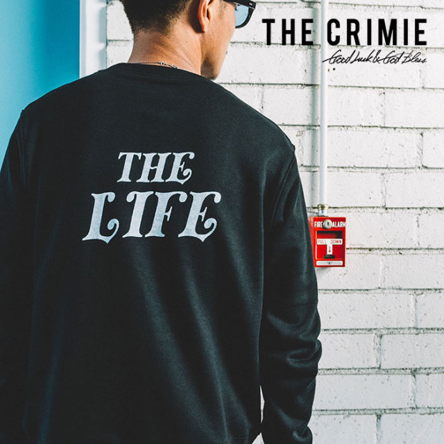 【SALE30%OFF】 CRIMIE(クライミー) SWEAT CREW THE LIFE 【2019SPRING/SUMMER新作】【送料無料】 【C1K1-SW11】【クルーネック
