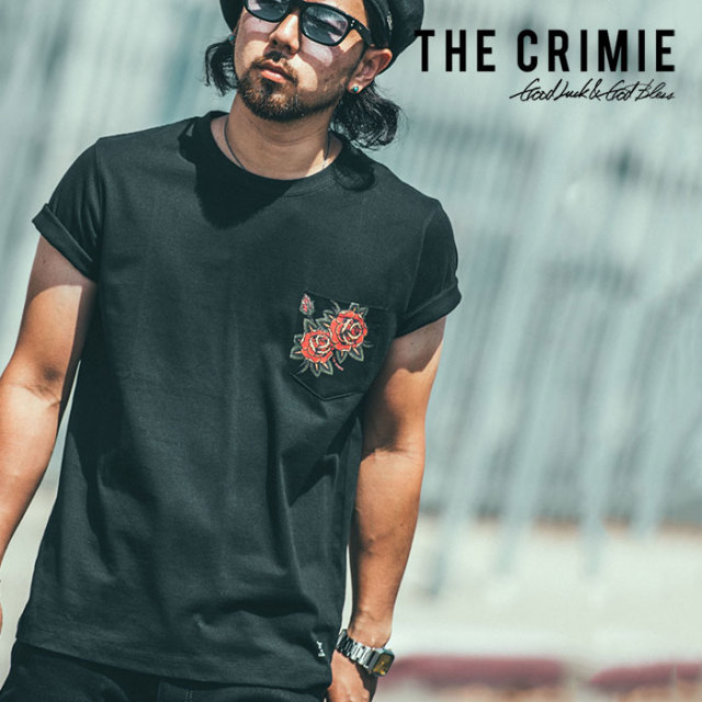 CRIMIE(クライミー) ROSE POCKET T-SHIRT 【2019SPRING/SUMMER新作】 【C1K1-TE01】【ポケット Tシャツ】