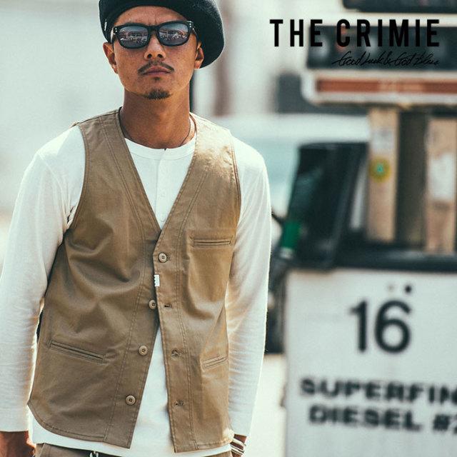 CRIMIE(クライミー) STRETCH CHINO VEST 【2019SPRING/SUMMER先行予約】【キャンセル不可】 【C1K1-JK07】【チノ ベスト】