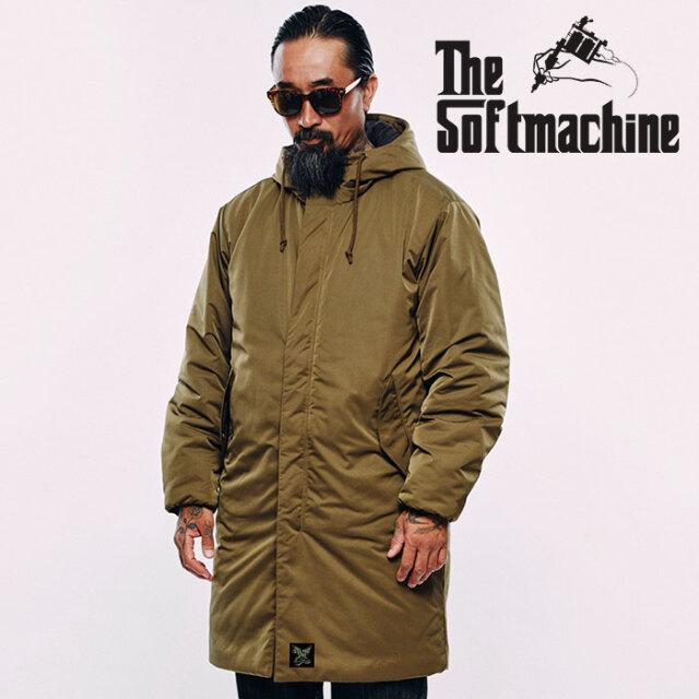 SOFTMACHINE(ソフトマシーン) COME DOWN COAT 【フードコート THINSULATE】【ブラック オリーブ タトゥー】【2020AUTUMN&WINTER先
