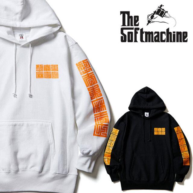 SOFTMACHINE(ソフトマシーン) CUBE HOODED 【スウェットパーカー】【ホワイト ブラック タトゥー】【2020AUTUMN&WINTER先行予約】