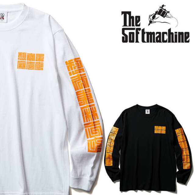 SOFTMACHINE(ソフトマシーン) CUBE L/S 【Tシャツ ロンT 長袖】【ホワイト ブラック タトゥー】【2020AUTUMN&WINTER先行予約】【キ