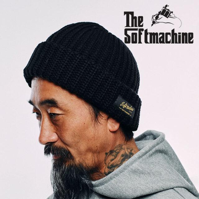 【SALE30%OFF】 SOFTMACHINE(ソフトマシーン) DAILY KNIT CAP 【ニットキャップ 帽子】【ブラック ホワイト ブラウン レッド タト