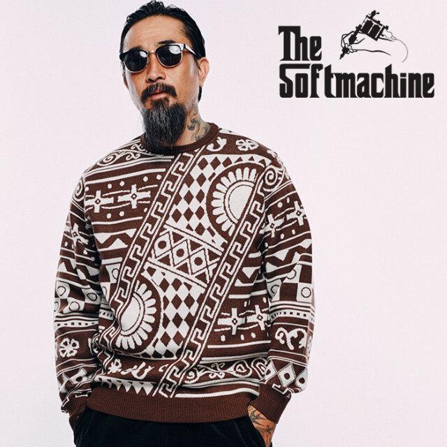 SOFTMACHINE(ソフトマシーン)  FULL HOUSE SWEATER 【ニット セーター】【レッド ブラウン タトゥー】【2020AUTUMN&WINTER先行予約