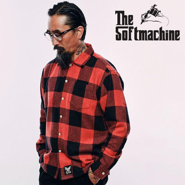 SOFTMACHINE(ソフトマシーン) MARVERICK SHIRTS 【フランネルシャツ 長袖】【レッド グレー タトゥー】【2020AUTUMN&WINTER先行予