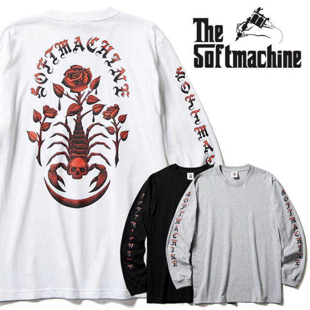 SOFTMACHINE(ソフトマシーン) POISON L/S 【Tシャツ ロンT 長袖】【ホワイト グレー ブラック タトゥー】【2020AUTUMN&WINTER新作