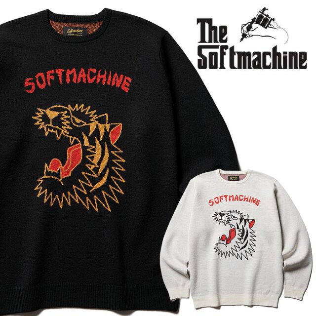 SOFTMACHINE(ソフトマシーン) ROAR SWEATER 【ニット セーター】【ベージュ ブラック タトゥー】【2020AUTUMN&WINTER先行予約】【