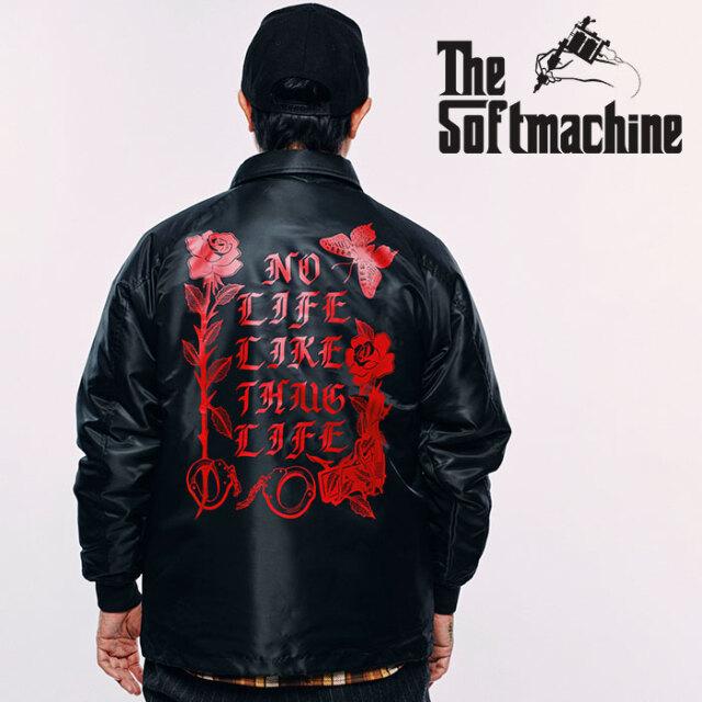 SOFTMACHINE(ソフトマシーン) SHAKUR BOA JK 【ボア コーチジャケット】【ブラック タトゥー】【2020AUTUMN&WINTER先行予約】【キ