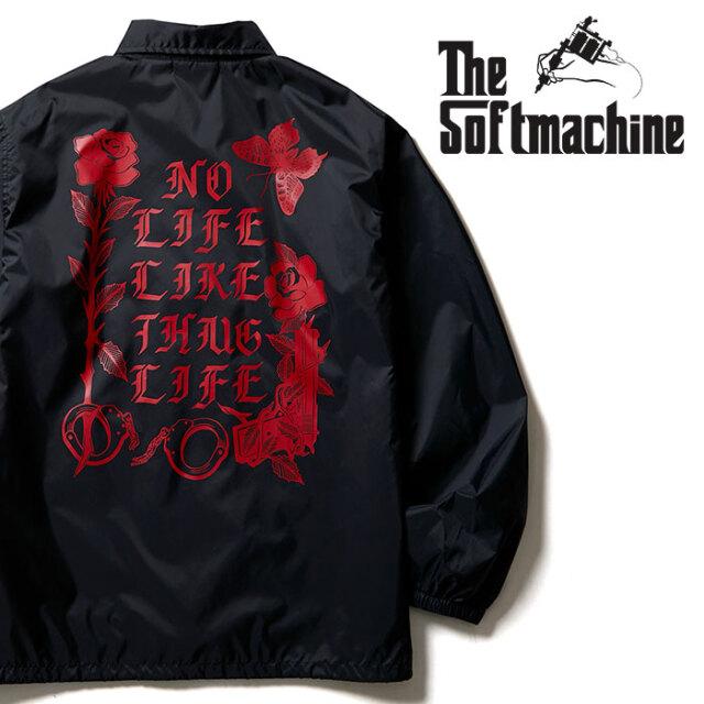 SOFTMACHINE(ソフトマシーン) SHAKUR JK 【コーチジャケット】【ブラック タトゥー】【2020AUTUMN&WINTER先行予約】【キャンセル不