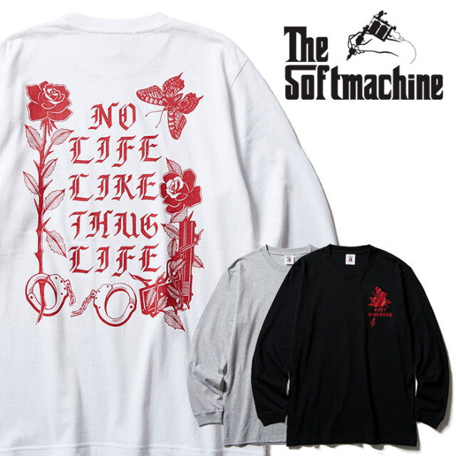 SOFTMACHINE(ソフトマシーン) SHAKUR L/S 【Tシャツ ロンT 長袖】【ホワイト グレー タトゥー】【2020AUTUMN&WINTER先行予約】【キ