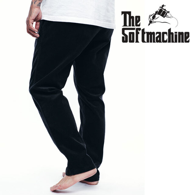 SOFTMACHINE(ソフトマシーン) THOMAS CODE PANTS 【コーデュロイ イージー パンツ】【ブラック ブラウン タトゥー】【2020AUTUMN&W