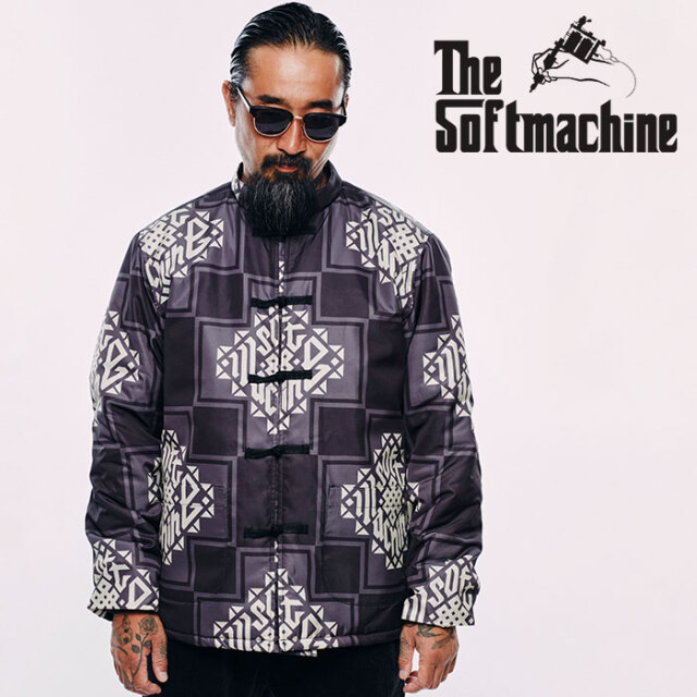 SOFTMACHINE(ソフトマシーン) TRIBUS KANG FU JK 【マオ ジャケット】【ブラック ホワイト タトゥー】【2020AUTUMN&WINTER先行予約