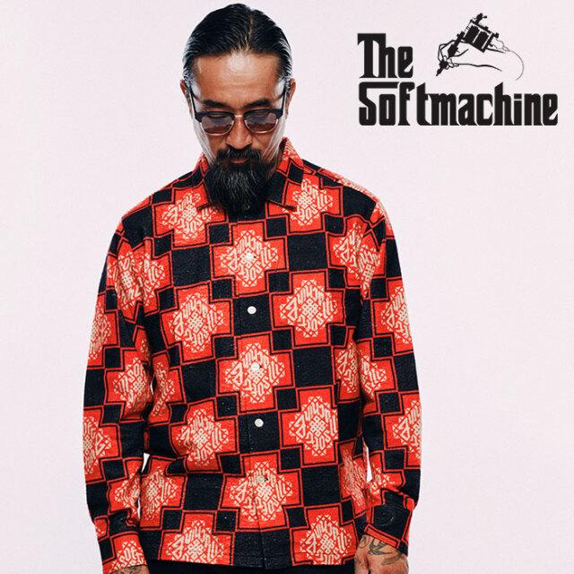 SOFTMACHINE(ソフトマシーン) TRIBUS SHIRTS 【フランネルシャツ 長袖】【レッド ブルー タトゥー】【2020AUTUMN&WINTER新作】