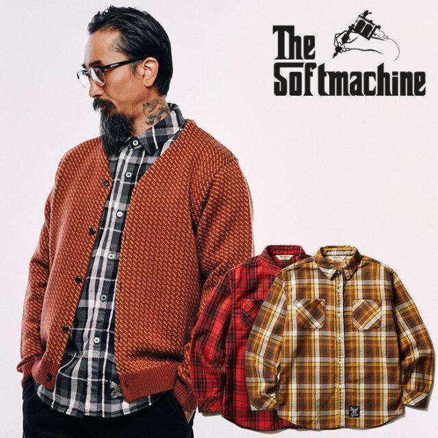 SOFTMACHINE(ソフトマシーン)  VALIANT SHIRTS 【フランネルシャツ 長袖】【レッド ブラック イエロー タトゥー】【2020AUTUMN&WIN