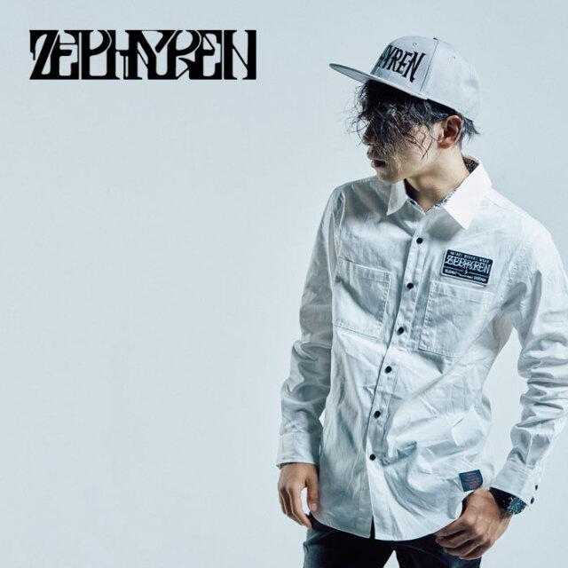 ZEPHYREN(ゼファレン) EMBLEM SHIRT L/S -twilight- 【シャツ 長袖】【Z16AD01】【2021AUTUMN&WINTER先行予約】【キャンセル不可】