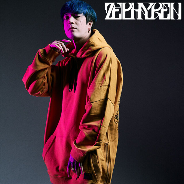 ZEPHYREN(ゼファレン) DOLMAN BIG PARKA - Kaleidoscope - 【パーカー】【Z20AD20】 【2020AUTUMN&WINTER先行予約】【キャンセル