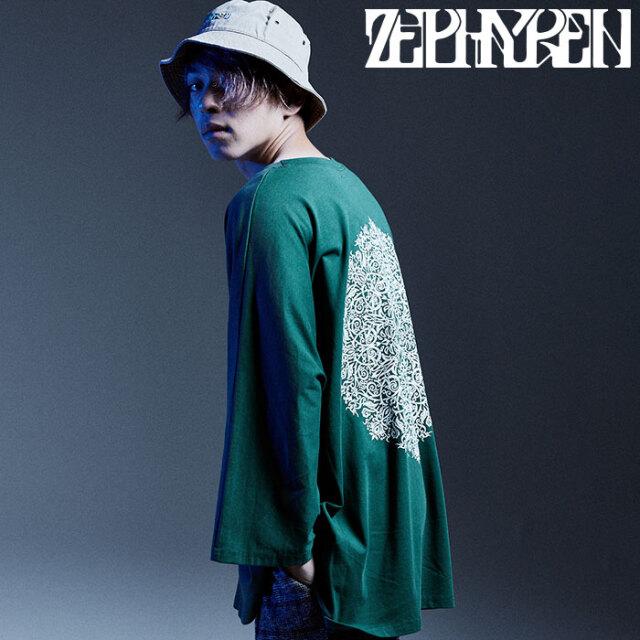 ZEPHYREN(ゼファレン) DOLMAN BIG TEE L/S - Kaleidoscope - 【Tシャツ】【Z20AD21】 【2020AUTUMN&WINTER新作】