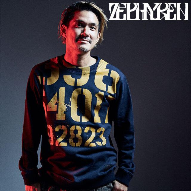 ZEPHYREN(ゼファレン) PEINTED SWEAT 【スウェット】【Z20AD22】 【2020AUTUMN&WINTER先行予約】【キャンセル不可】