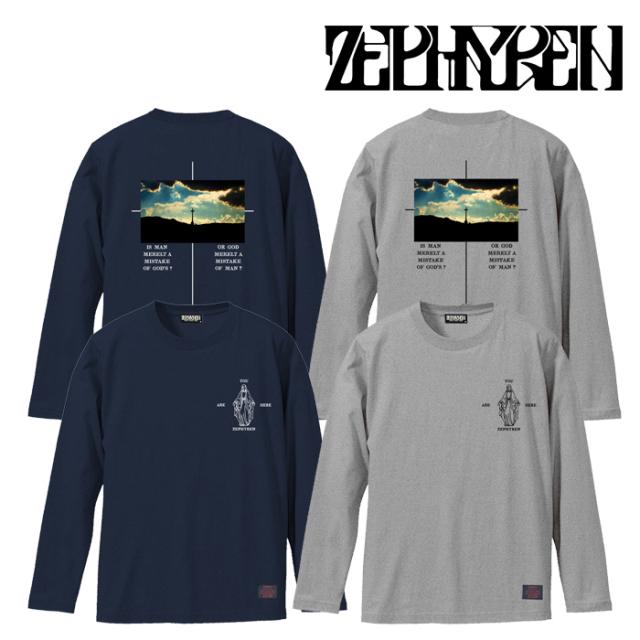 ZEPHYREN(ゼファレン) L/S TEE -twilight- 【Tシャツ 長袖】【Z21AM29】【2021AUTUMN&WINTER先行予約】【キャンセル不可】