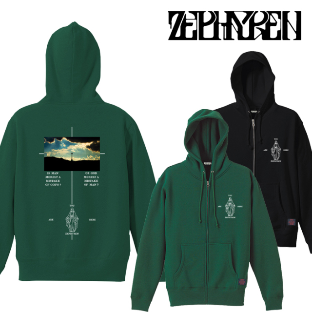 ZEPHYREN(ゼファレン) ZIP PARKA -twilight- 【パーカー】【Z21AN34】【2021AUTUMN&WINTER先行予約】【キャンセル不可】