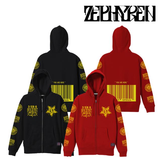 ZEPHYREN(ゼファレン) ZIP PARKA -INFINITY- 【パーカー】【Z21AN35】【2021AUTUMN&WINTER先行予約】【キャンセル不可】