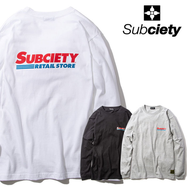 SUBCIETY(サブサエティ) MARKET L/S 【ロングスリーブTシャツ】【2020SPRING新作】【102-44506】