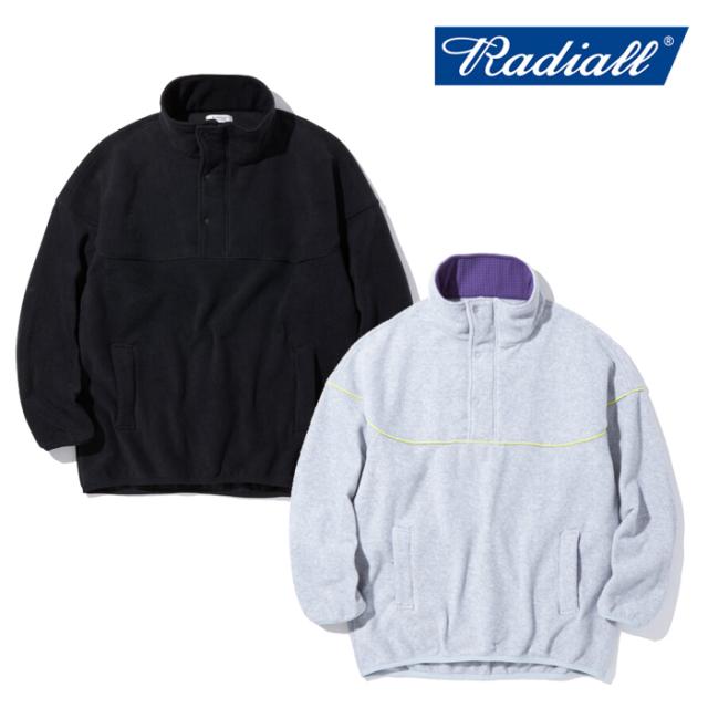 RADIALL ラディアル  TAHOE - STAND COLLARED PULLOVER SWEATSHIRT L/S  【フリース プルオーバー】【2021 AUTUMN&WINTER COLLECTI