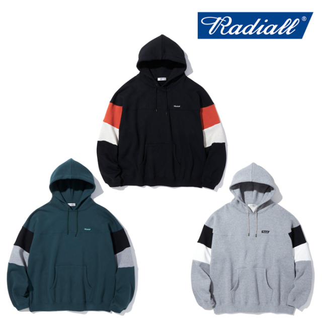 RADIALL ラディアル  FLAGS BOWL - HOODIE SWEATSHIRT L/S  【パーカー】【2021 AUTUMN&WINTER COLLECTION】【RAD-21AW-CUT011】【