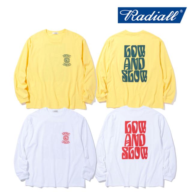 RADIALL (ラディアル)  LO-N-SLO - CREW NECK T-SHIRTS L/S  【ロングスリーブTシャツ ロンT 長袖Tシャツ】【2021 AUTUMN&WINTER C