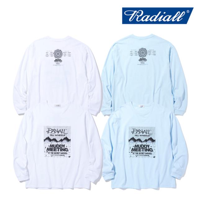RADIALL (ラディアル)  MR. MUDDY - CREW NECK T-SHIRTS L/S  【ロングスリーブTシャツ ロンT 長袖Tシャツ】【2021 AUTUMN&WINTER
