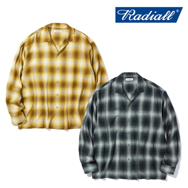 RADIALL (ラディアル)  LO-N-SLO - OPEN COLLARED SHIRT L/S  【オープンシャツ】【2021 AUTUMN&WINTER COLLECTION】【RAD-21AW-SH