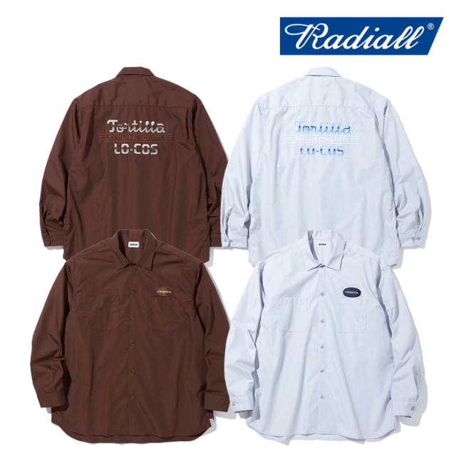 RADIALL (ラディアル)  TORTILLA - OPEN COLLARED SHIRT L/S  【ワークシャツ】【2021 AUTUMN&WINTER COLLECTION】【RAD-21AW-SH00