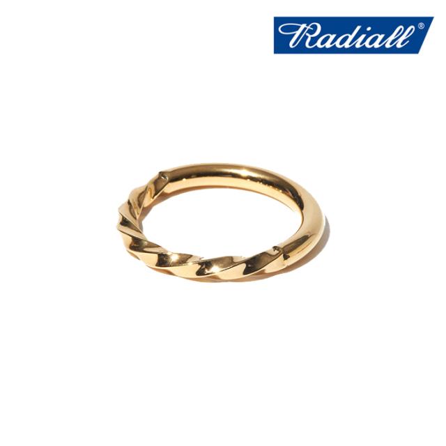 RADIALL (ラディアル)  TWIST NARROW - PINKY RING  【ピンキーリング 指輪】【2021 AUTUMN&WINTER COLLECTION】【RAD-JWL029-02】