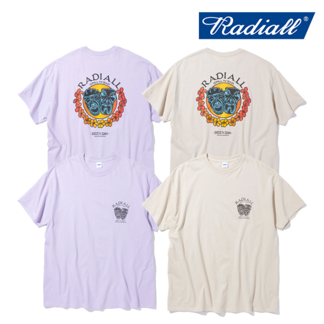 RADIALL(ラディアル) TWO FACE - CREW NECK T-SHIRT S/S 【Tシャツ 半袖】【2021 SPRING&SUMMER COLLECTION】【RAD-21SS-SPOT-TEE0