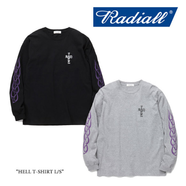 【SALE30%OFF】 RADIALL(ラディアル) HELL T-SHIRT L/S 【2017AUTUMN/WINTER新作】 【即発送可能】 【RADIALL Tシャツ】 【RA1