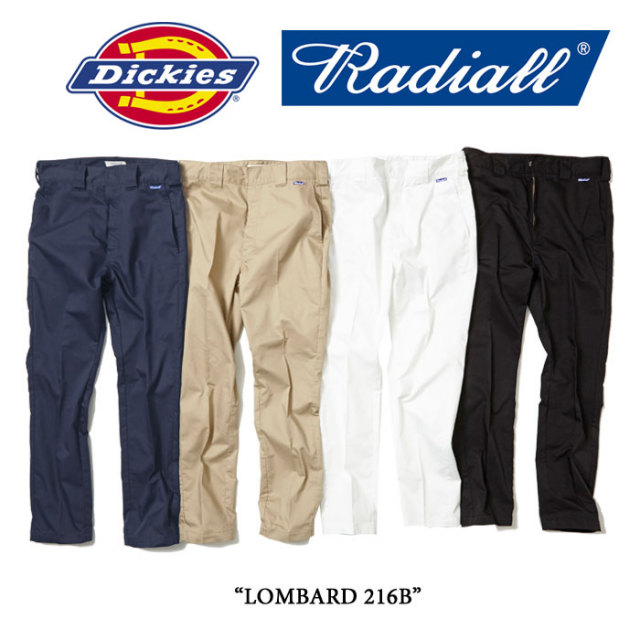【SALE 40%OFF】 RADIALL(ラディアル) LOMBARD 216B 【RADIALL×Dickies】 【送料無料】 【RADIALL ワークパンツ】【RAD-16SS-SP