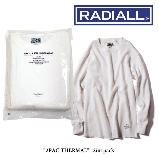 RADIALL(ラディアル) 2PAC THERMAL(2枚組サーマルロングスリーブ) 【RADIALL サーマル】【RADIALL トップス】 【RADIALL 2パック