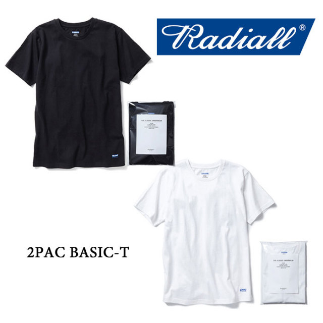 RADIALL(ラディアル) 2PAC BASIC-T 【RADIALL 2P TEE】 【RADIALL 正規取り扱い店】 【RAD-PAC018】