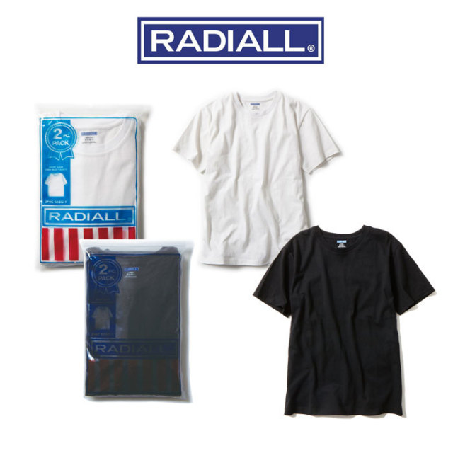 【RADIALL】(ラディアル) 2PAC BASIC-TEE(2枚入りTシャツ) 【2015 SPRING/SUMMER新作!】 【即発送可能】 【RADIALL(ラディアル)T