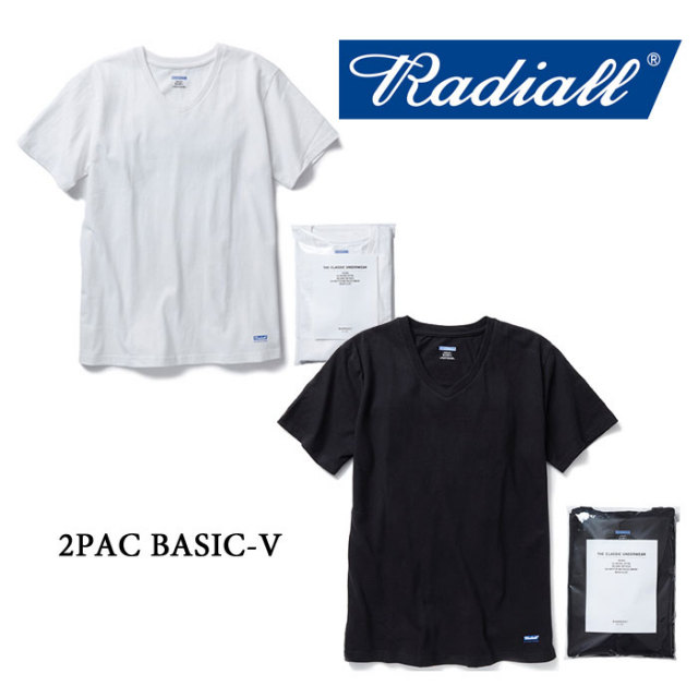 RADIALL(ラディアル) 2PAC BASIC-V 【RADIALL 2P TEE】 【RADIALL 正規取り扱い店】 【RAD-PAC019】