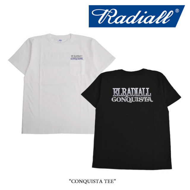 RADIALL(ラディアル) CONQUISTA TEE 【2017 SPRING&SUMMER】 【即発送可能】 【RADIALL Tシャツ】 【RAD17SS-TEE015】