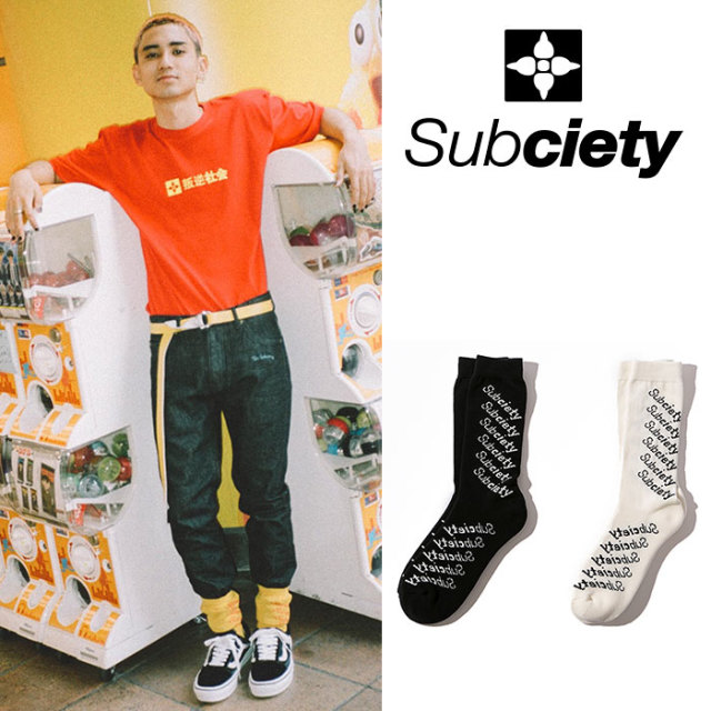 SUBCIETY(サブサエティ) SHADOW SOCKS 【2018AUTUMN/WINTER新作】【107-80344】