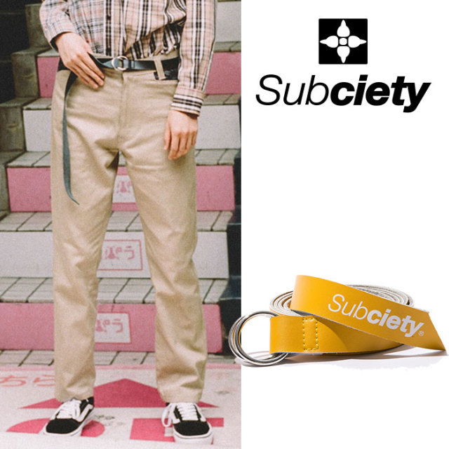 SUBCIETY(サブサエティ) LEATHER RING BELT 【2018AUTUMN/WINTER新作】【107-81346】