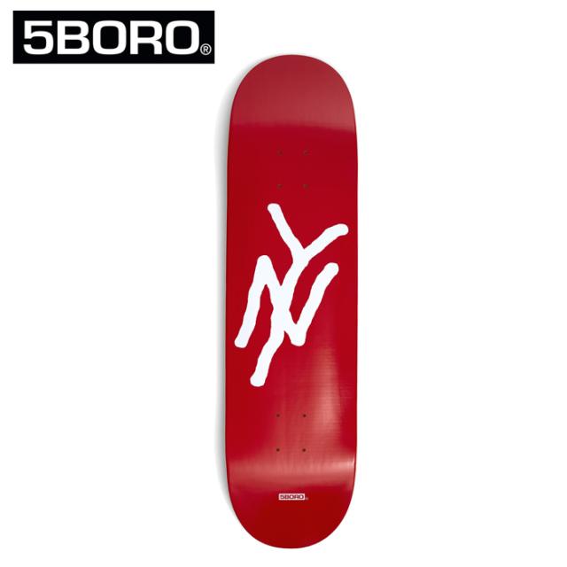 5BORO (ファイブボロ)  5B NY LOGO RED 8.25インチ  【5BORO ファイブボロ】【スケートボード スケボー】【デッキ 板】