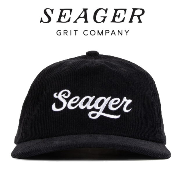 SEAGER(シーガー) BIG BLACK CORDUROY SNAPBACK 【キャップ 帽子】【シーガー キャップ】【定番 人気 シンプル アウトドア サーフ