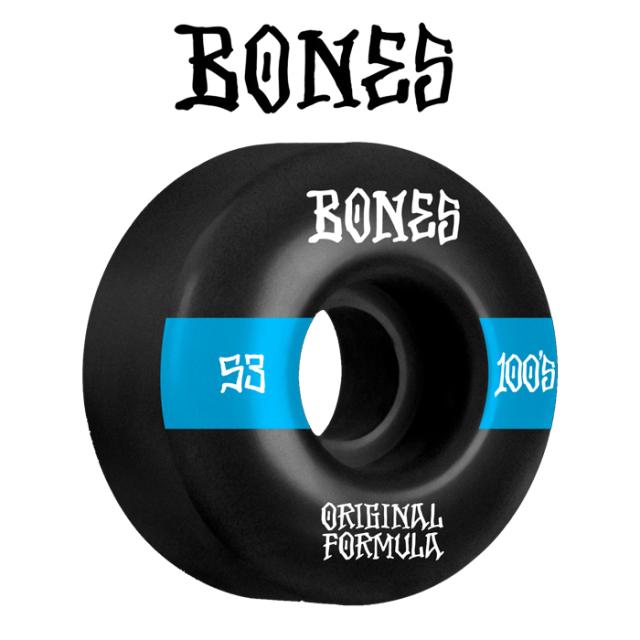 BONESWHEELS(ボーンズウィール) BONES OG FORMULA 100S 53mm V4 WIDE 100A BLACK 【ボーンズ スケートボード スケボー パーツ ウィ