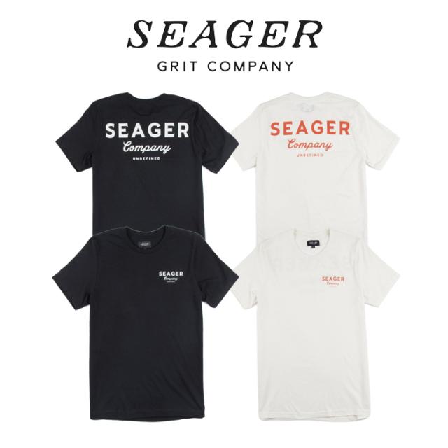 SEAGER(シーガー) COMPANY TEE (VINTAGE BLACK / WHITE) 【Tシャツ 半袖T】【定番 人気 シンプル アウトドア サーフィン スケート